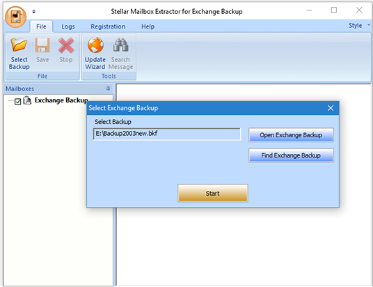How to Extract Exchange Mailbox from Exchange Backup File
