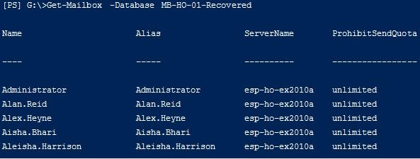 restore Exchange 2010 database