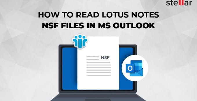 read NSFfiles in MS Outlook