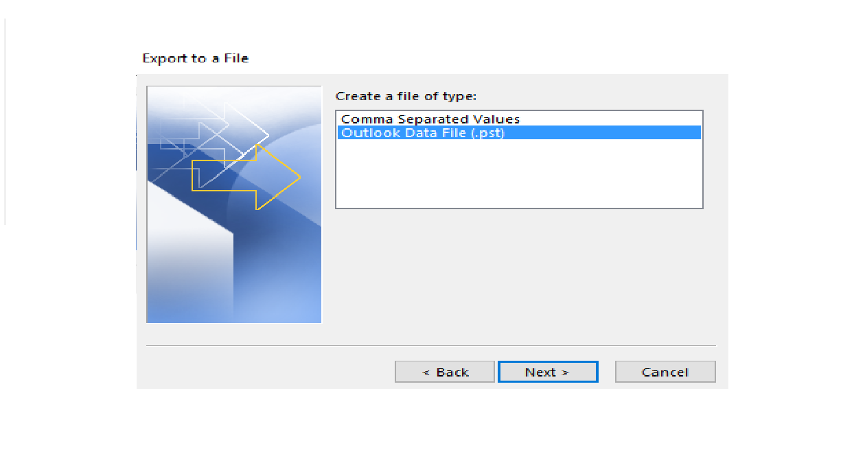 Import and Export method to restore the OST File data in the PST format Manually
