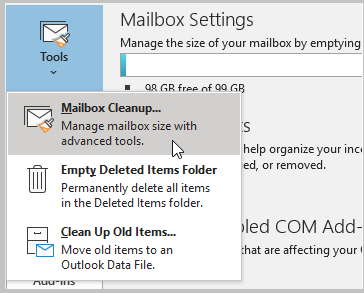 Outlook Mailbox Cleanup Utility